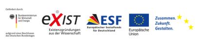 Logos Fördermittelgeber EXIST